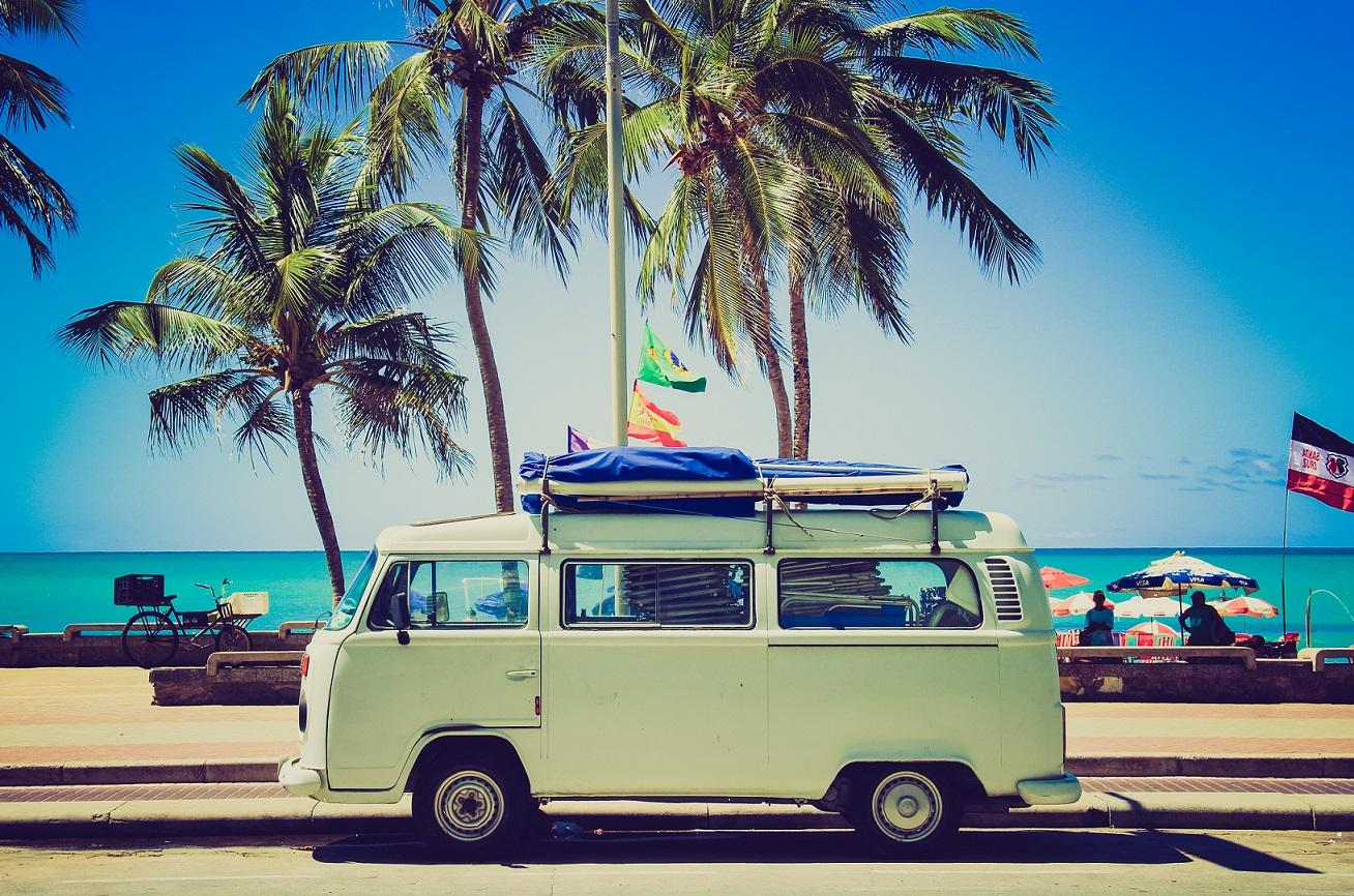 Van in paradise